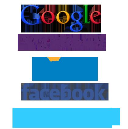 Google Bing yahoo Twitter Facebook